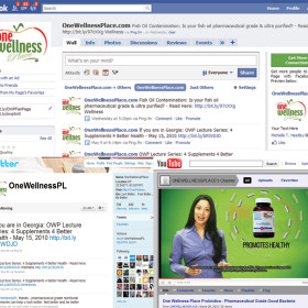 Social Media Campaign (OneWellnessPlace.com)